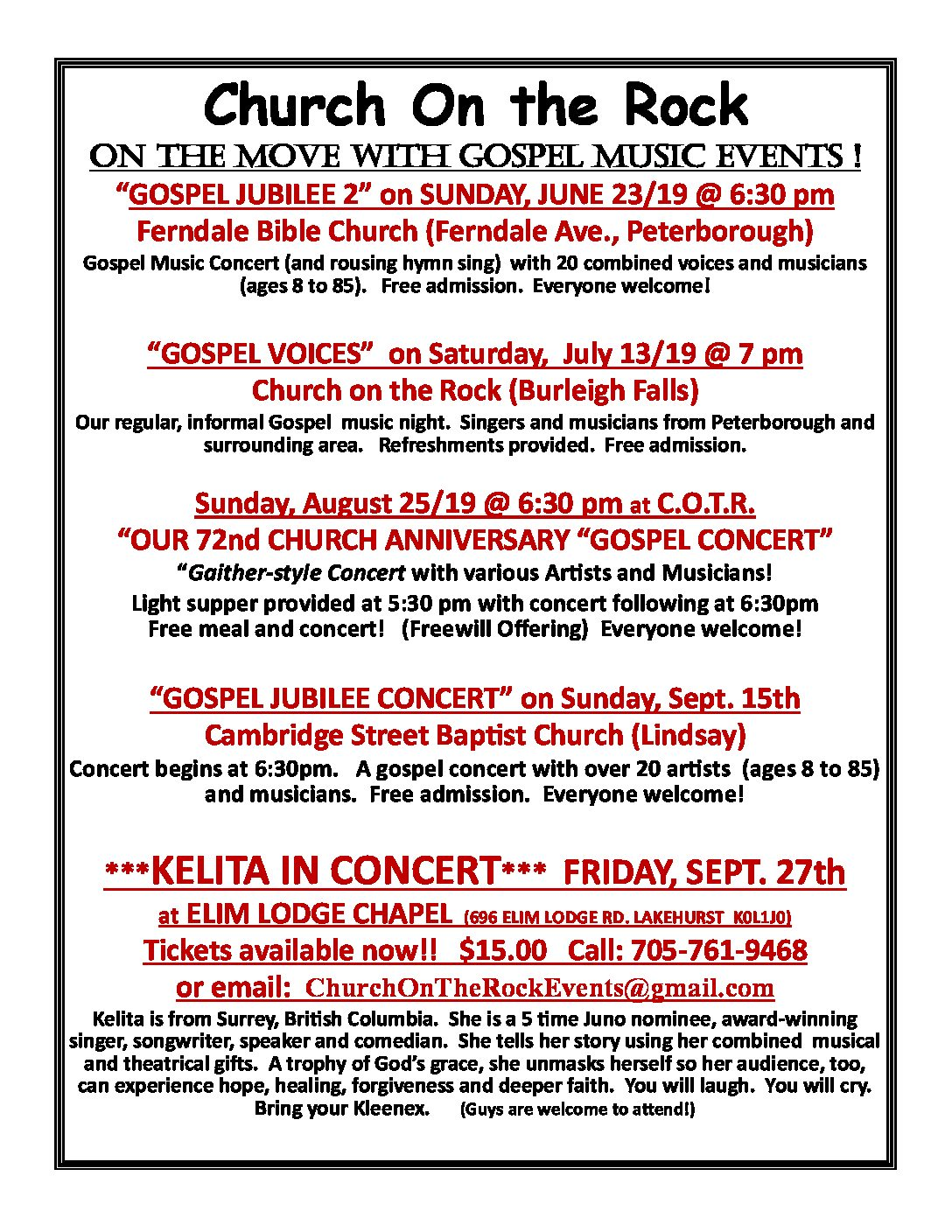 Gospel Jubilee Concert - Ferndale Bible Church