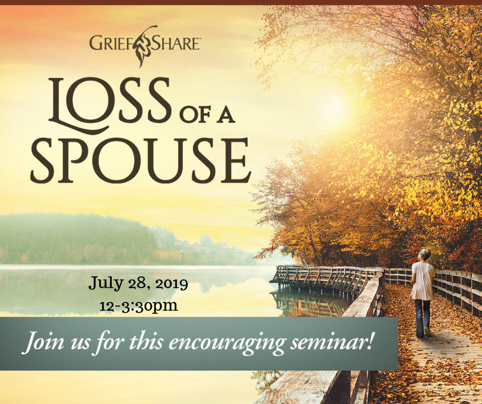 Loss of a Spouse Event July 28th, 12-3:30pm